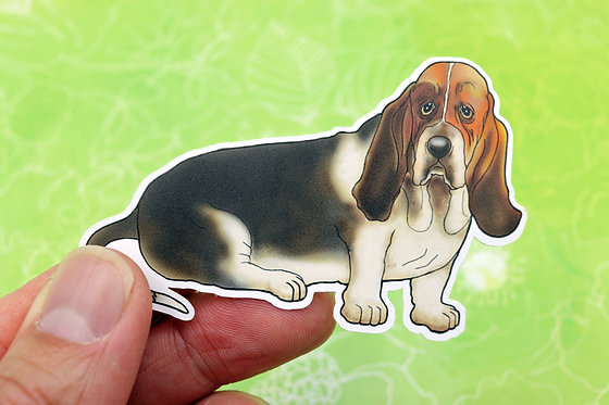 Basset Hound (Die Cut Sticker)