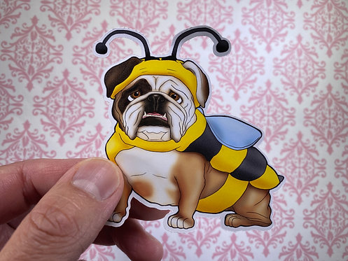 Bulldog Bee (Die Cut Sticker)
