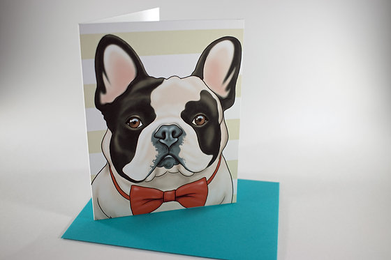 Frenchie in Bow Tie