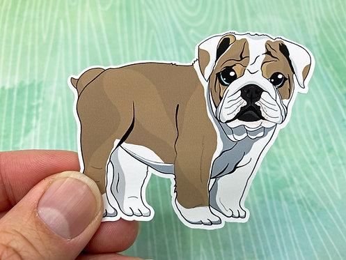 Bulldog Puppy (Die Cut Sticker)