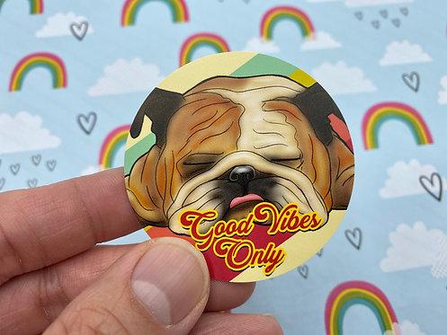 Good Vibes Only (Round Sticker)