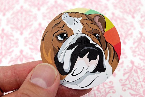 Bulldog (Round Sticker)