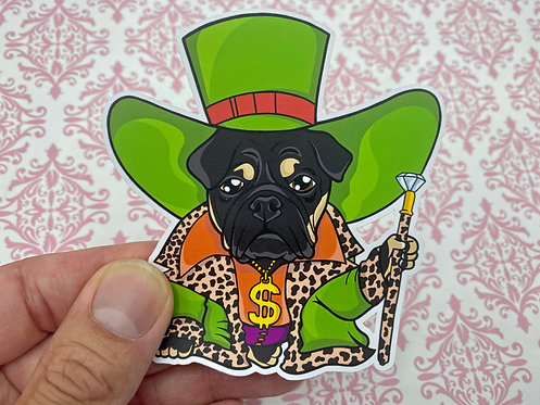 Rich Bulldog (Die Cut Sticker)