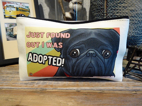 Adopted Black Pug (7.5in x 4.5in)