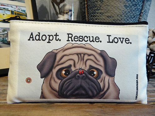 Adopt, Rescue, Love (7.5in x 4.5in)