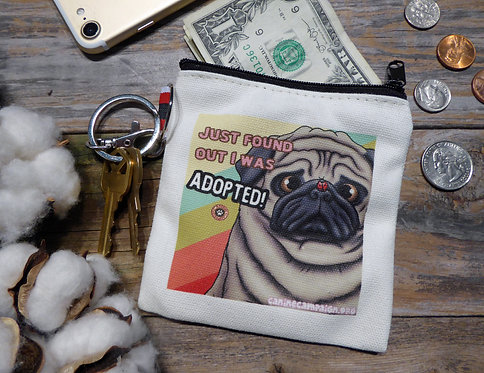 Adopted Fawn Pug (4.5in x 4.5in)