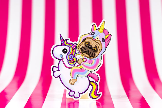 Unicorn Cowboy (Die Cut Sticker)
