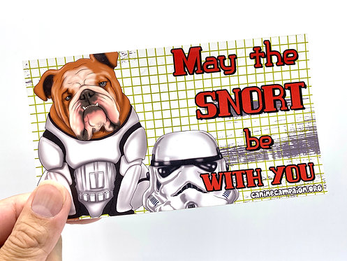Snort Trooper (Bumper Sticker)