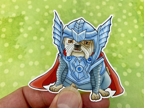 Thor Bulldog (Die Cut Sticker)