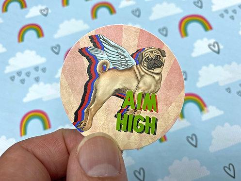 Aim High (Round Sticker)