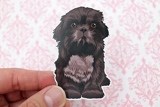 Shih Tzu Puppy (Die Cut Sticker)