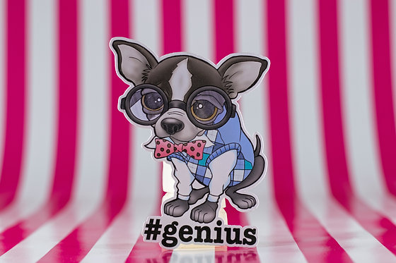 #genius Chihuahua (Die Cut Sticker)