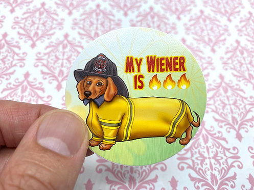 Hot Wiener (Round Sticker)