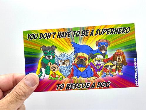 Superhero (Bumper Sticker)