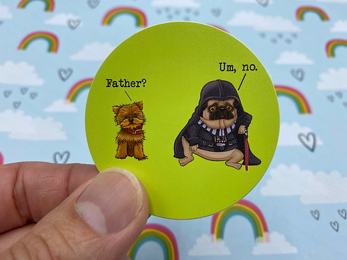 Father? (Round Sticker)