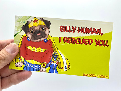 copy of Silly Human - WW (Bumper Sticker)