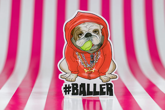 #baller Bulldog (Die Cut Sticker)