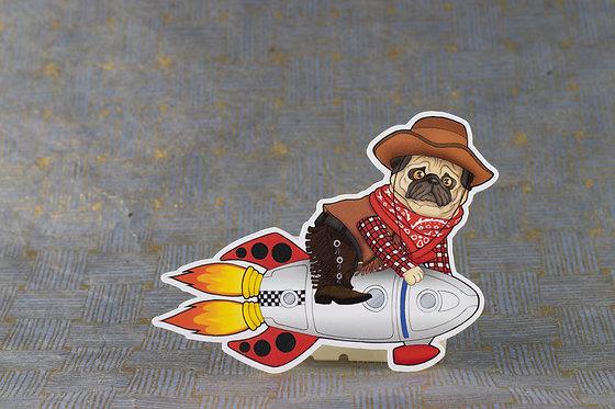 Space Cowboy (Die Cut Sticker)
