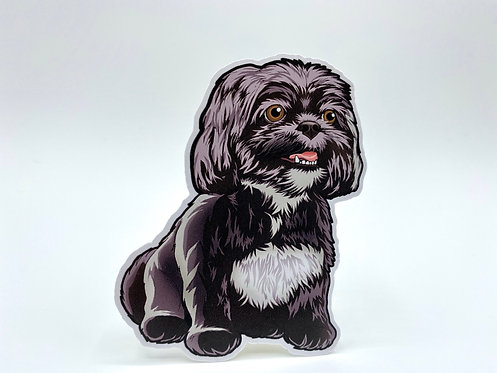 B&W Shih Tzu (Die Cut Sticker)