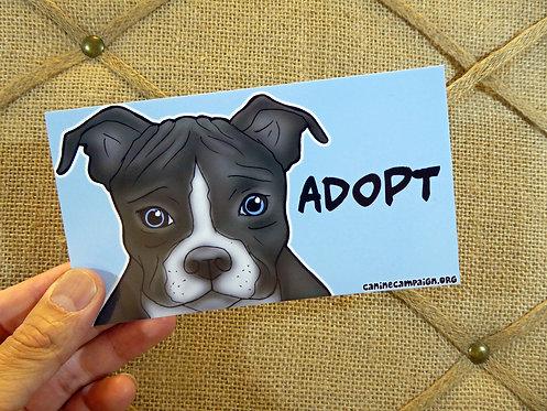 Pitbull Adopt (Bumper Sticker)