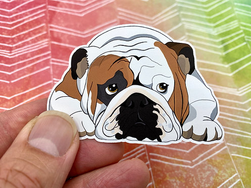 Sleeping Bulldog (Die Cut Sticker)