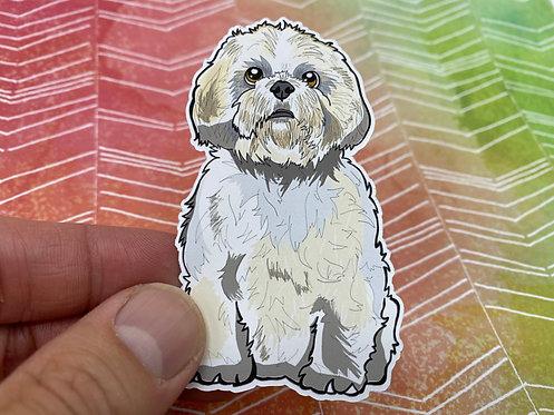 Cute Shih Tzu (Die Cut Sticker)