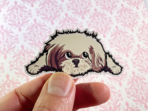 Sleeping Shih Tzu (Die Cut Sticker)