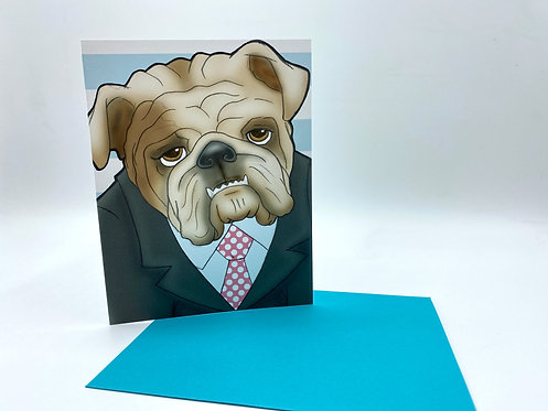 Bulldog in Suit