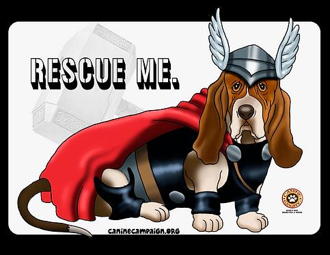 Rescue Me (Basset Hound Thor)