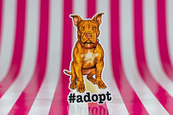 #adopt Pitbull (Die Cut Sticker)