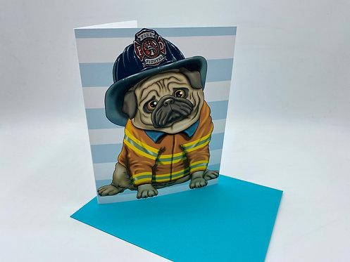 Firefighter Pug