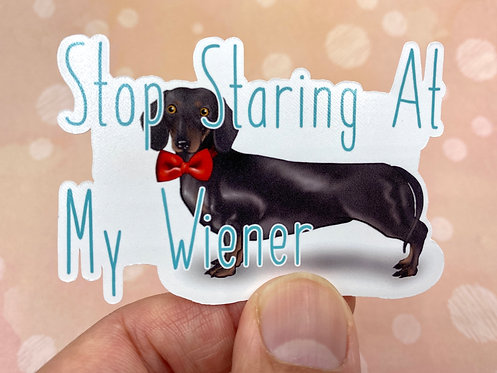 Stop Staring (Die Cut Sticker)