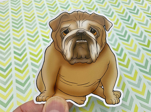 Chubby Bulldog (Die Cut Sticker)