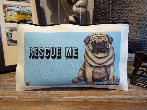 Rescue Me - Ladybug Pug (7.5in x 4.5in)