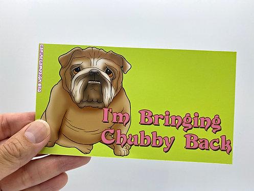 Chubby Bulldog (Bumper Sticker)
