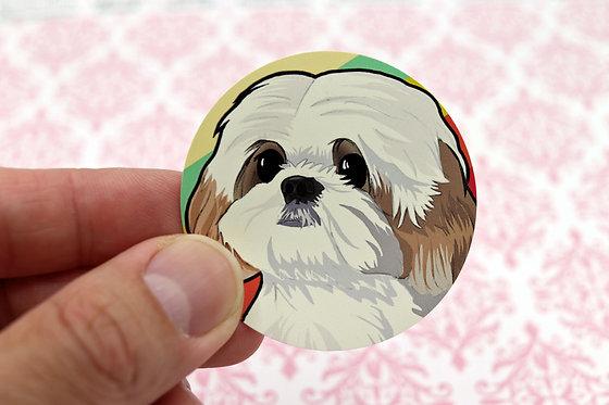 Shih Tzu (Round Sticker)