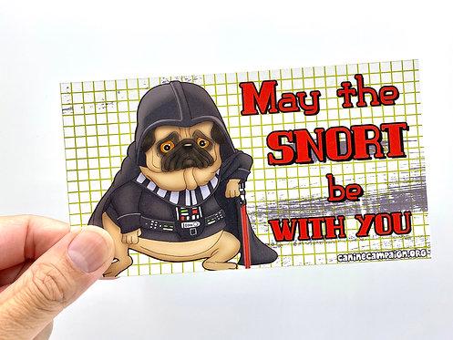 Snort Vader (Bumper Sticker)