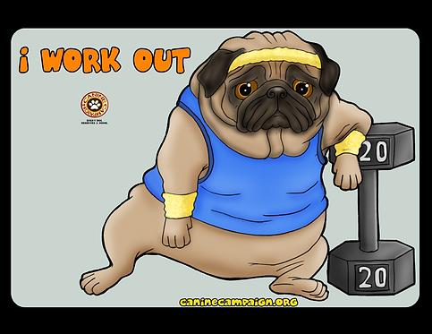 I Work Out - Pug