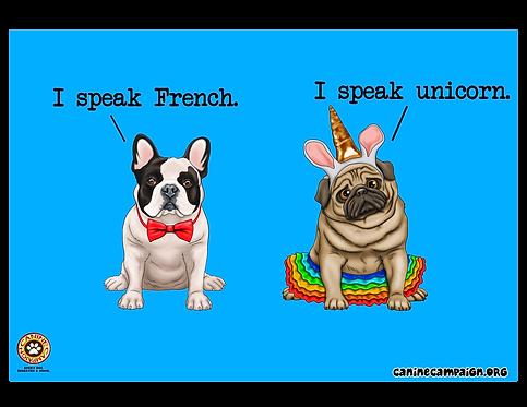 I Speak French, I Speak Unicorn