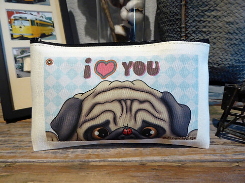 I <3 You - Fawn Pug (7.5in x 4.5in)