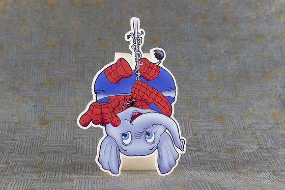 Spidey Elephant (Die Cut Sticker)