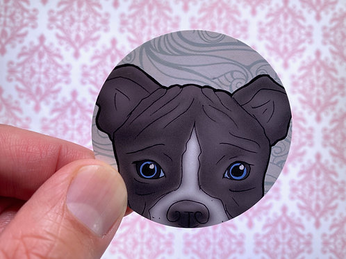 Amazing Pitbull (Round Sticker)