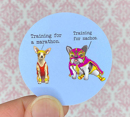 Nacho Trainer (Round Sticker)