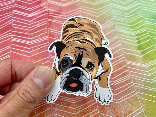 Brindle Bulldog (Die Cut Sticker)