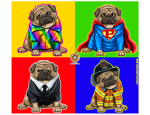 Faces of Pugs