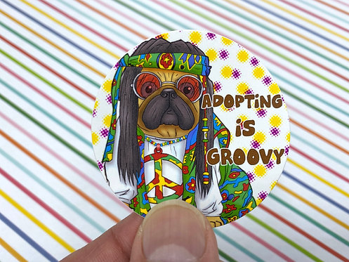 Adopting is Groovy (Round Sticker)
