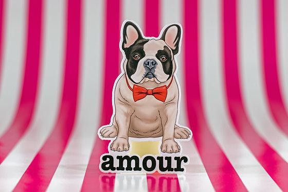 Frenchie Amour (Die Cut Sticker)