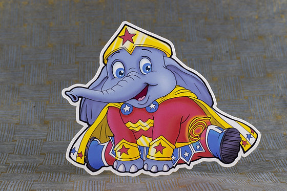 Elephant Wonder (Die Cut Sticker)