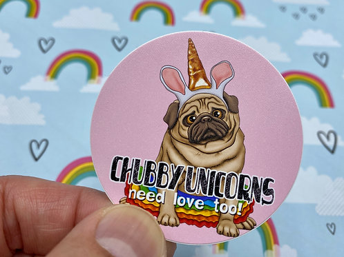 Chubby Unicorns (Round Sticker)