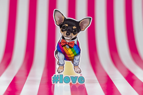 #love Chihuahua (Die Cut Sticker)